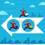 stock-vector-competition-people-vector-running-man-winner-business-direction-arrow-129209738