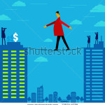 stock-vector-risky-way-to-achieve-money-129344078